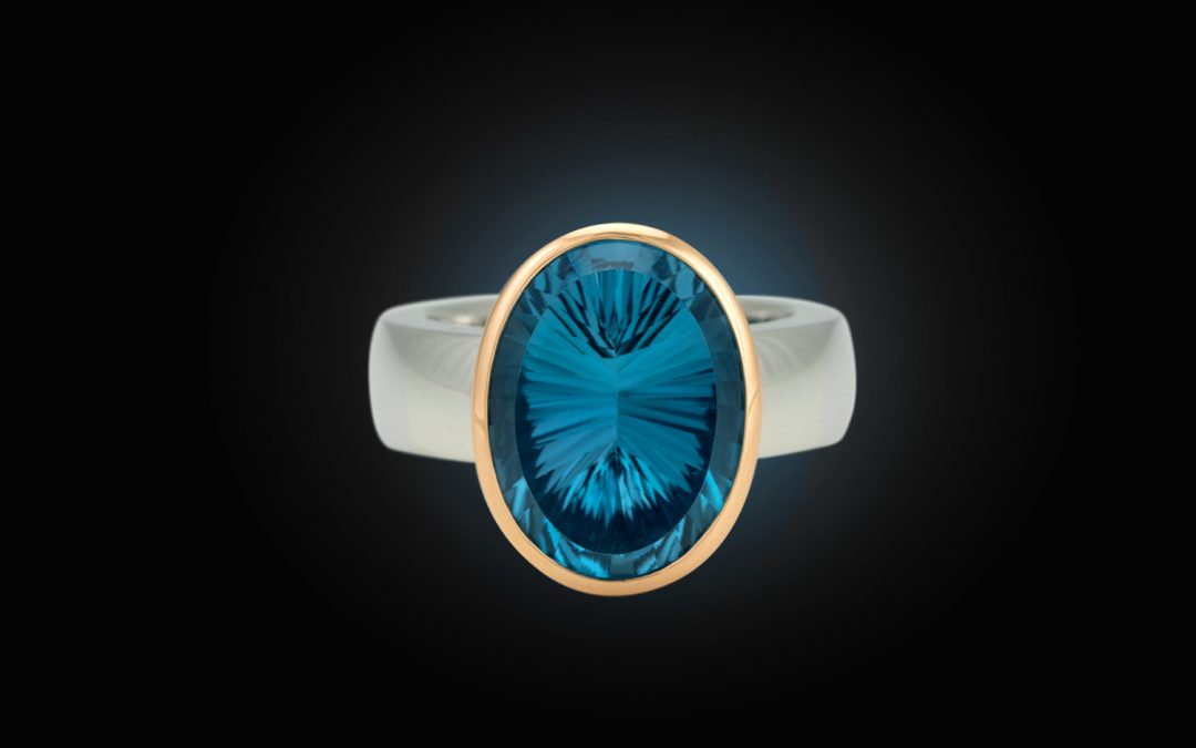 """Hofacker Collection Couleur """"Belle"""" Ring mit London Blue Topas"""