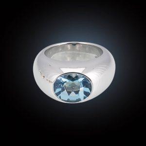 Hofacker Danah Ring mit Blautopas